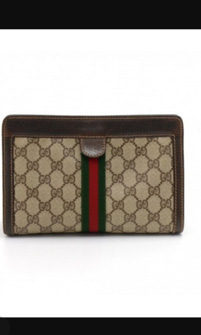 cdfbf06149c743 VINTAGE GUCCI ACCESSORY COLLECTION GG SUPREME COATED CANVAS CLUTCH ...