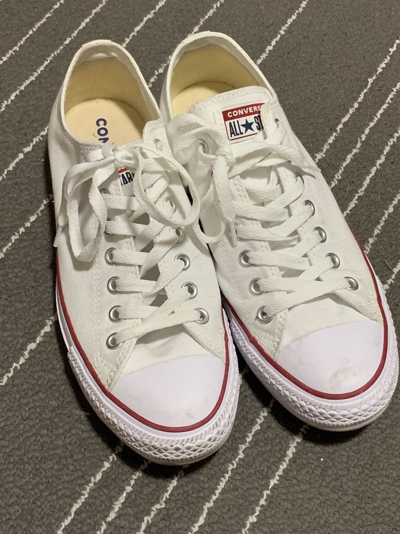 5286652867869f White Converse Shoes UK9