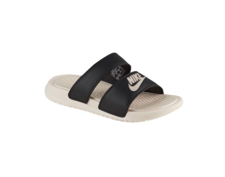 online retailer 06981 90f32 Womens Nike Benassi Duo Ultra Slide - Black/Guava, Women's ...