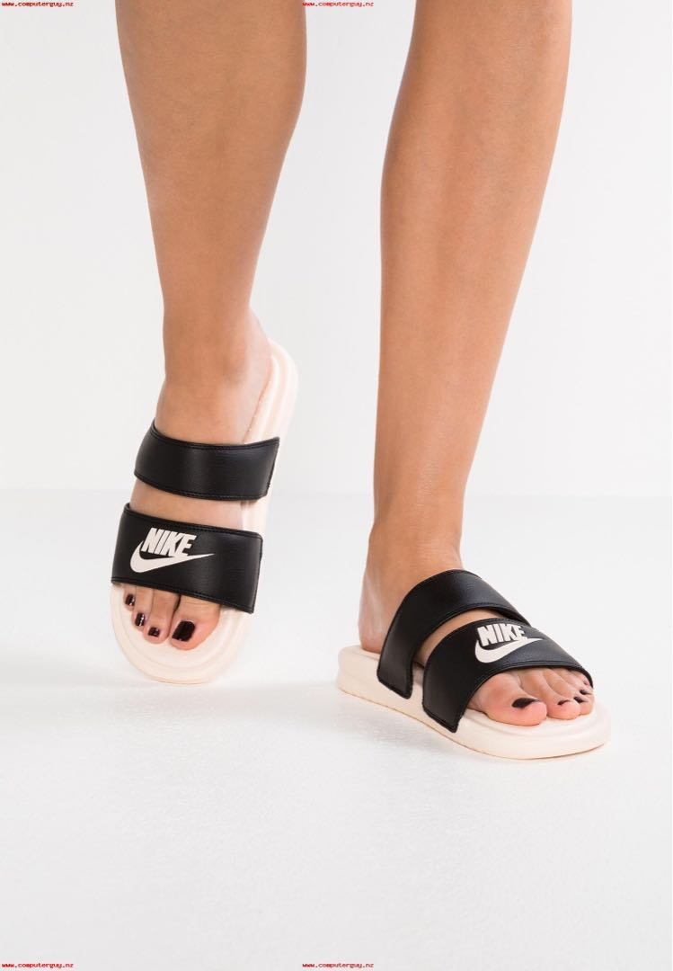 c5043e86e12a0 Womens Nike Benassi Duo Ultra Slide - Black Guava