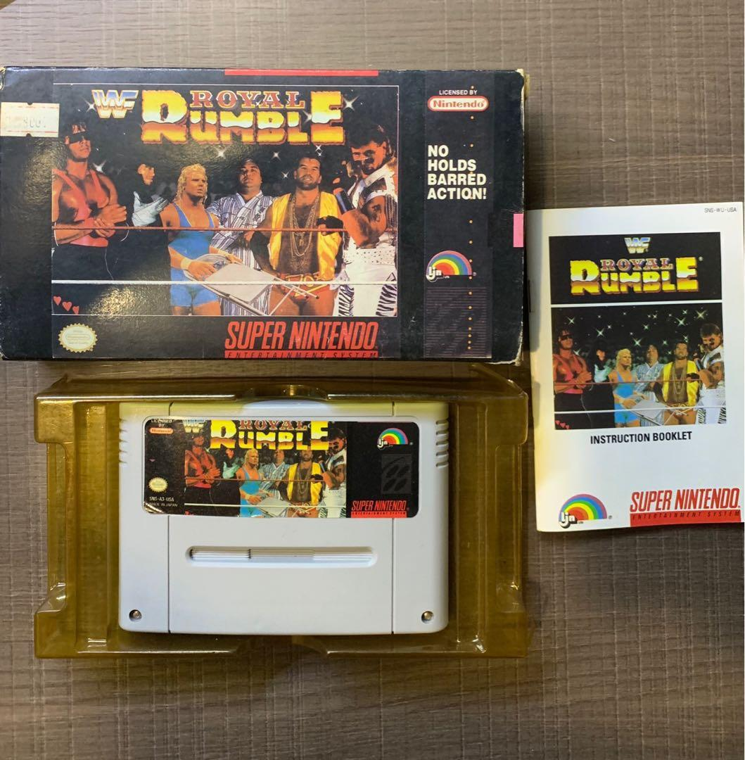 WWF Royal Rumble SNES / Super Famicom, Toys & Games, Video