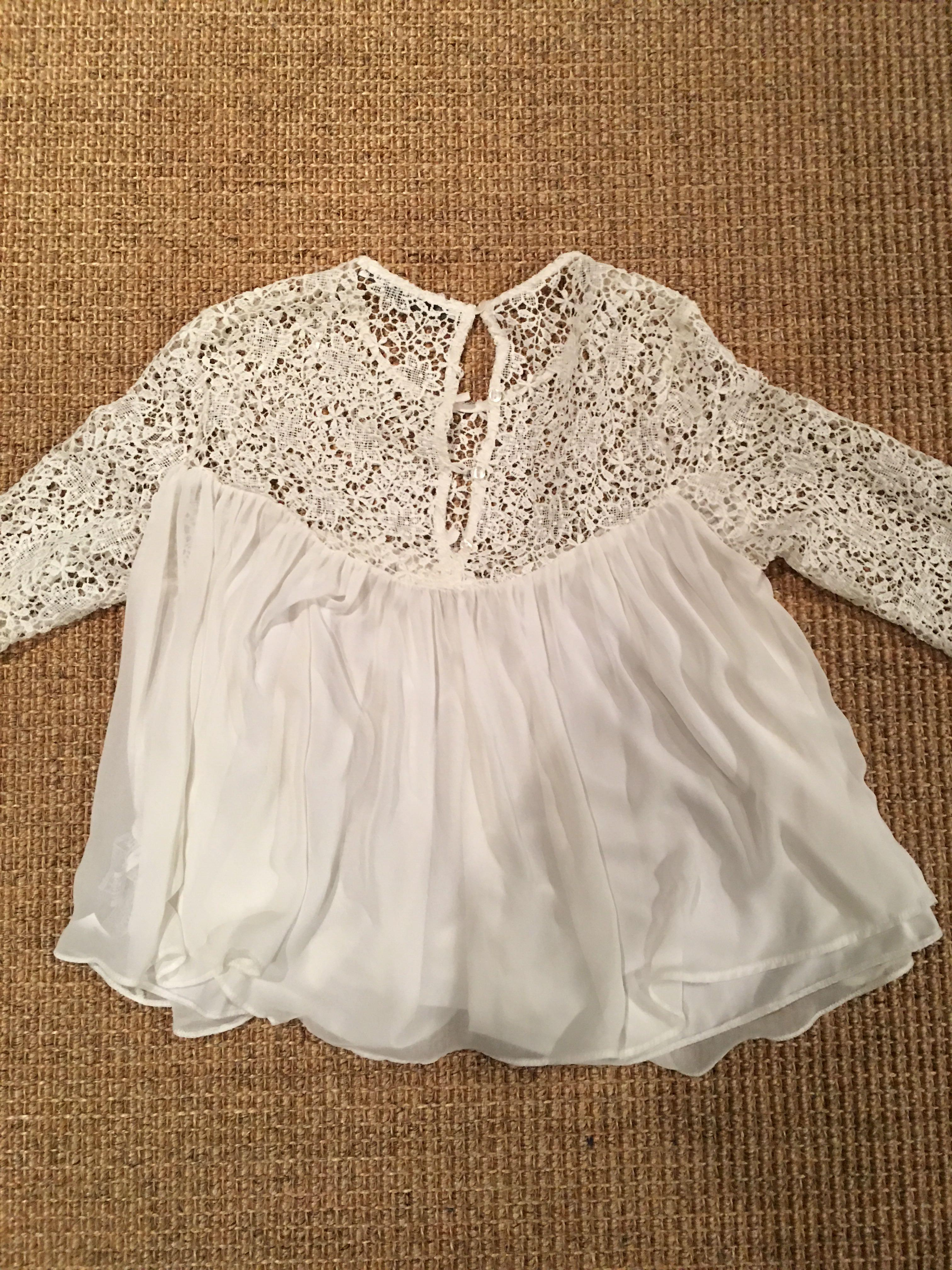 ZARA Blouse with mesh details