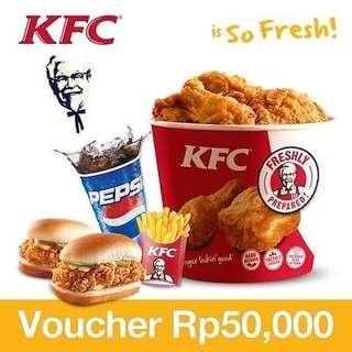 Voucher KFC 50rb