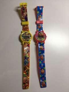 Toy's story 反斗奇兵扭蛋卡通手錶