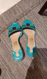 Ferragamo sandals in turquoise