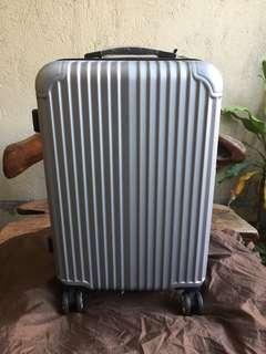 Silver Medium Luggage