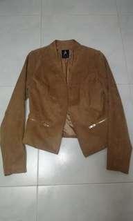 Atmosphere brown suede jacket