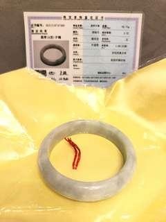 全新天然翡翠(A級)玉鐲,清貨價$250,57.x手圍,有証書,有意PM