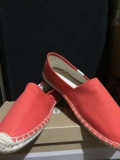 🚚 [全新]🇺🇸Soludos 經典橘紅色 百搭草編鞋