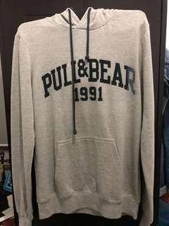 Pull&Bear Logo Hoodie - Grey (Second)