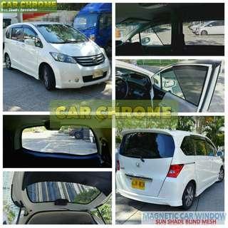 本田 Honda FREED GB3 GB4 GB5 GB6 專用磁石版本窗網 一套7件: 包括: 前窗 x 2、中門 x 2、尾窗 x 2、尾門窗 x 1 (MAGNETIC CAR WINDOW SUN SHADE BLIND MESH)