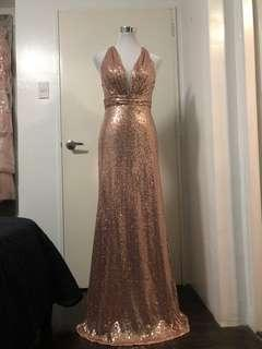 FOR RENT: ROSEGOLD SEXY EVENING GOWN