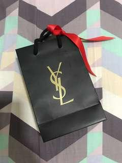 Ysl paper bag with ribbon