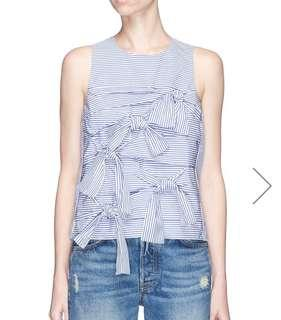 Tibi Knot Stripe Vest exclusive for lane crawford