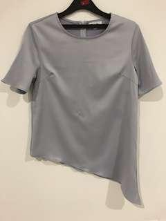 Authentic Pomelo light grey assymetrical top