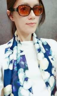 🚚 【抽象花卉-下標區】現+預!新款 韓式 韓版 小領巾 女士真絲綢緞印花長款絲巾沙灘圍巾