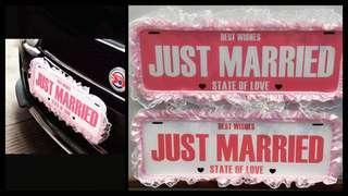 婚禮物資: Just marriage 車牌