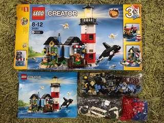Preloved Light House Lego Creator Set