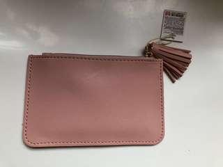 Miniso Coin Purse with Tassels (pink)