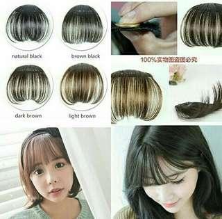 Clip on bangs