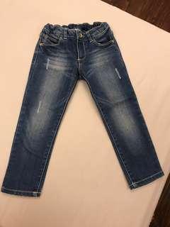 🚚 Zara女童刷色牛仔褲 3/4year 104cm