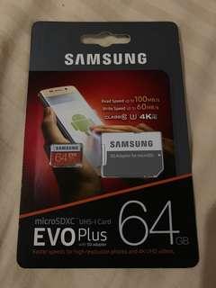 ORIGINAL SAMSUNG EVO PLUS MEMORY CARD 64GB