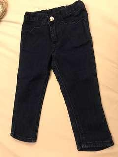 🚚 H&M 女童愛心造型牛仔褲 1.5-2Y 92cm