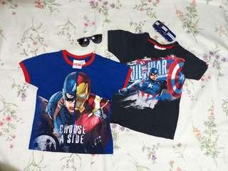 Civil War 2 Pair of Tshirts/ Size 6/ Good as New!
