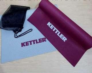 Kettler Yoga Matt - Matras Yoga Ungu dan Abu2 - Yoga Matras Yoga Matt Alas Yoga
