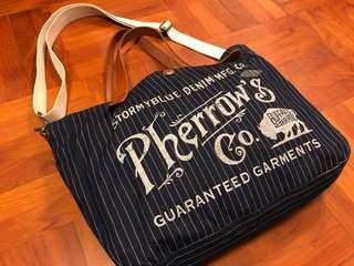 Japan Pherrow's Denim Fabric Bag 2WAY BAG