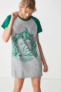 🚚 TYPO HARRY POTTER SLYTHERIN SHIRT DRESS