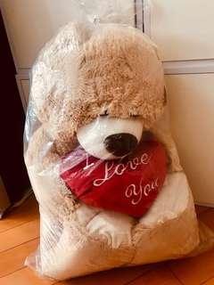 Paws 65cm高 大bear bear (I LOVE YOU字 )