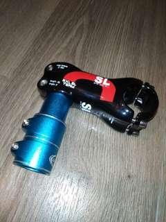 Carbon Fible (CF) handlebar clamp with stem extender