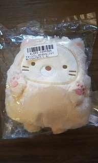"Limited Edition 6"" San-X Sumikko Gurashi Sumikkogurashi Neko Cat Kitten Warm Kaneko Biyori Figurine Plush Sling Bag Clasp Pocket ID EZ-Link Ezlink Card Holder Coin Storage Key Pouch Purse Wallet Make-up Clutch"