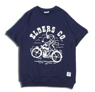 Elders ss pullover large navy