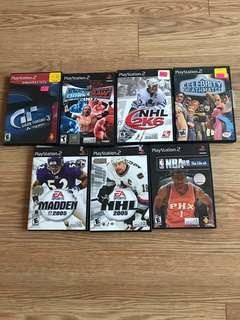 PlayStation 2 Games Lot-7 games