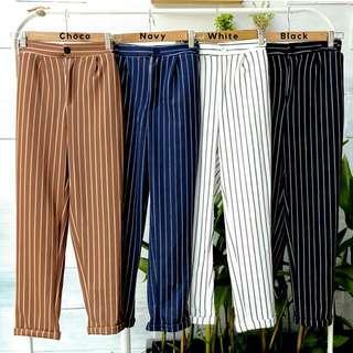 Anna STRIPE BASIC BUTTON Pants