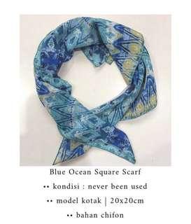 Blue Ocean Short Scarf