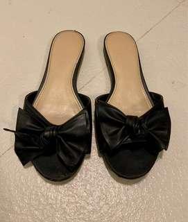 Aldo Black Slip On Sandals