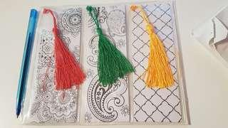 new! colour therapy bookmarks
