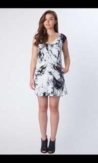 Keepsake Marble Print Shift Dress