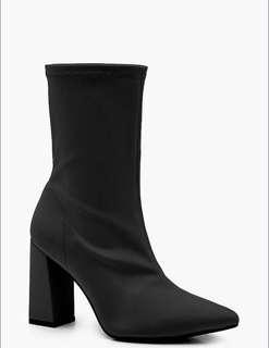 Black Sock Boots sz8