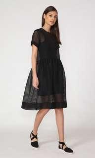 Moochi Black Sheer Dress