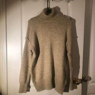 Knit turtleneck sweater/knit turtleneck sweater dress
