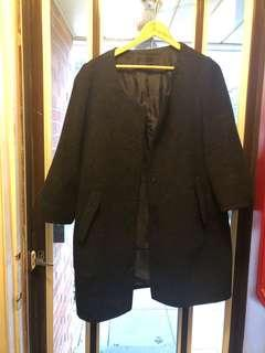 Charcoal grey coat sz m