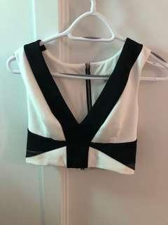 Size small crop top with Zip back