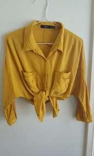Sportsgirl Mustard Button Up