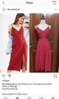 RED ZARA-INSPIRED CANVAS DRESS