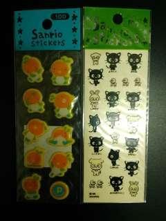Sanrio Choco Cat & 橙 貼紙 (包郵)
