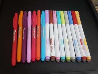 Miniso Erasable Watercolor Pen (9pcs), Dong-A My Color 2 (7pcs)